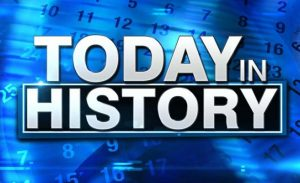 Major events that happened in today's history